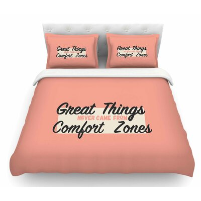 Great Things by Juan Paolo Digital Vintage Featherweight Duvet Cover Size: Queen
