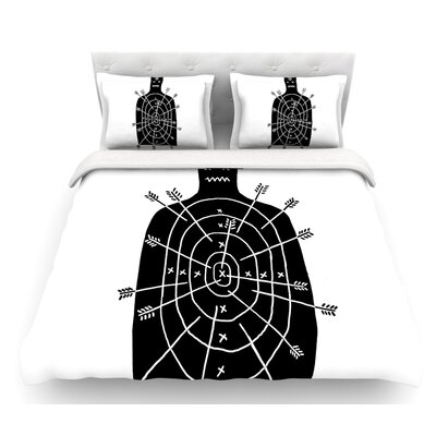 Arch Arrow by BarmalisiRTB Target Featherweight Duvet Cover Size: Twin
