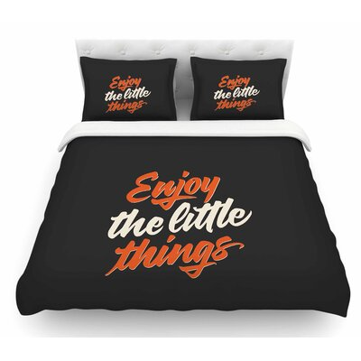 Enjoy the Little Things by Juan Paolo Vintage Featherweight Duvet Cover Size: Queen
