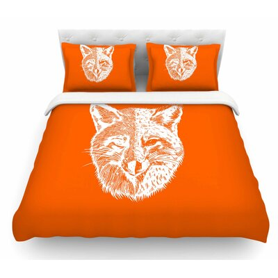 Foxface by BarmalisiRTB Digital Featherweight Duvet Cover Size: Queen