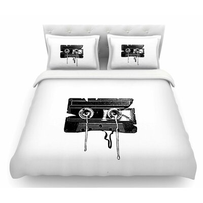 Cassette Memories Featherweight Duvet Cover Size: Twin