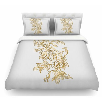 Vintage Rose by 888 Design Floral Digital Featherweight Duvet Cover Size: King