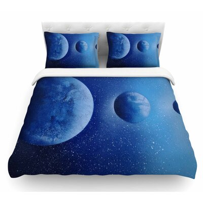 Interplanetary Alignments by Infinite Spray Art Mixed Media Featherweight Duvet Cover Size: Twin
