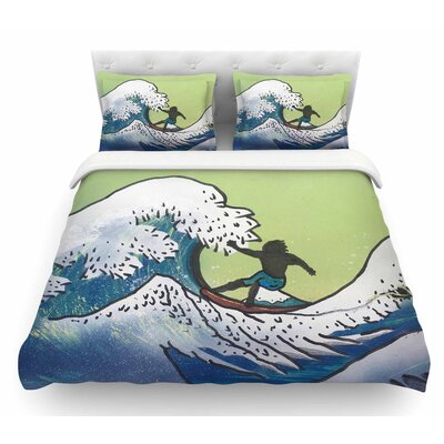 Hokusai Remake by Infinite Spray Art Featherweight Duvet Cover Size: Twin
