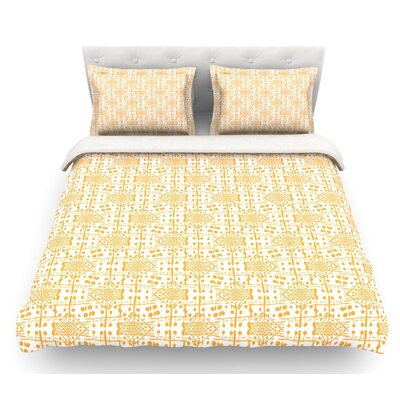 Diamonds by Apple Kaur Designs Squares Featherweight Duvet Cover Size: King