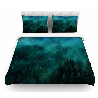 Forest Night by 888 Design Digital Featherweight Duvet Cover Size: Queen