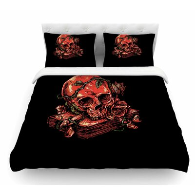 Dark History by BarmalisiRTB Fantasy Nature Featherweight Duvet Cover Size: Queen