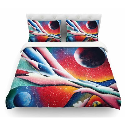 String Theory by Infinite Spray Art Featherweight Duvet Cover Size: King