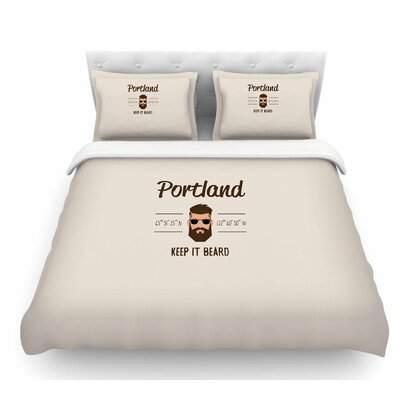Original Hipster by Juan Paolo Featherweight Duvet Cover Size: Queen