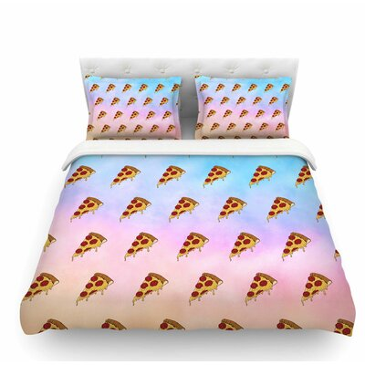 Lucid Pizza by Juan Paolo Food Featherweight Duvet Cover Size: King