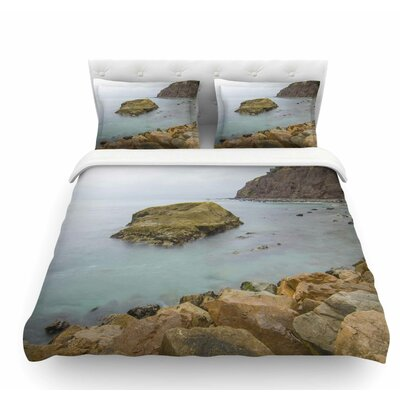 Rock Above Water by Nick Nareshni Featherweight Duvet Cover Size: Twin