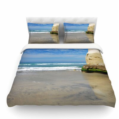 Solana Beach Sands by Nick Nareshni Nature Coastal Featherweight Duvet Cover Size: Queen
