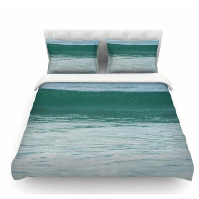 The Lone Wave by Nick Nareshni Featherweight Duvet Cover Size: Queen