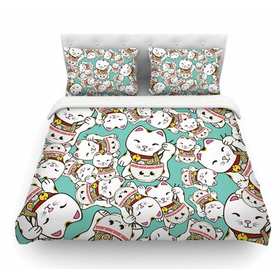 Ramen Cats by Juan Paolo Featherweight Duvet Cover Size: Twin