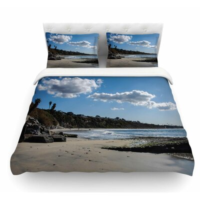 Clouds Over Swamis Beach by Nick Nareshni Featherweight Duvet Cover Size: Queen