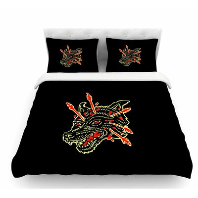 Dead Wolf by BarmalisiRTB Animals Featherweight Duvet Cover Size: Twin