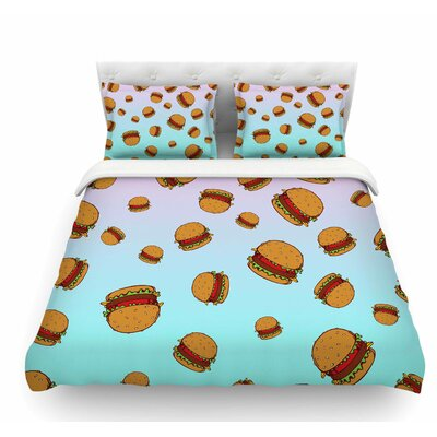 Cheeseburger Paradise by Juan Paolo Pastel Featherweight Duvet Cover Size: Twin