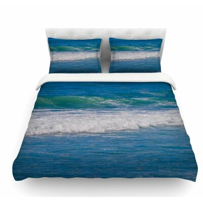 Solana Beach Rolling Waves by Nick Nareshni Coastal Featherweight Duvet Cover Size: Queen