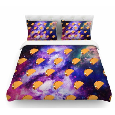 Taco Galaxy by Juan Paolo Featherweight Duvet Cover Size: Queen