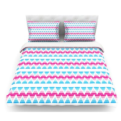 Swimming Pool Tiles by Apple Kaur Designs Featherweight Duvet Cover Size: Queen