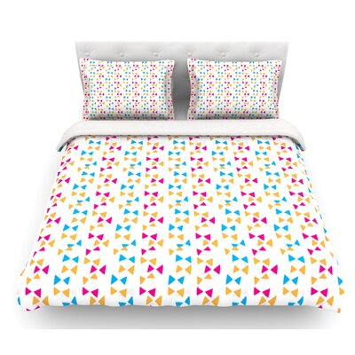 Lets Celebrate by Apple Kaur Designs Featherweight Duvet Cover Size: Twin