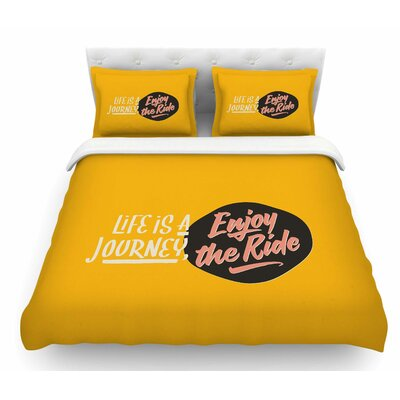 Enjoy the Ride by Juan Paolo Vintage Featherweight Duvet Cover Size: King