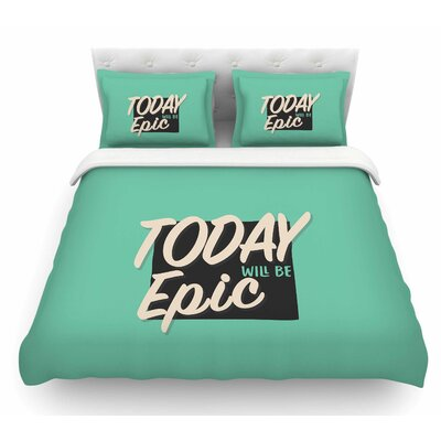 Epic Day by Juan Paolo Vintage Featherweight Duvet Cover Size: Queen