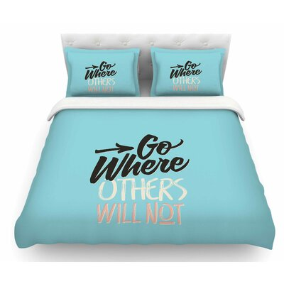 Go Where Others Will Not by Juan Paolo Vintage Featherweight Duvet Cover Size: Twin