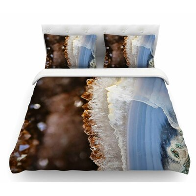 Quartz by Sylvia Cook Nature Featherweight Duvet Cover Size: Twin