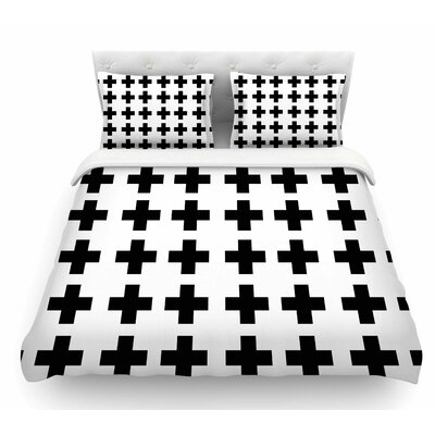 Swedish Cross by Suzanne Carter Featherweight Duvet Cover Size: Twin