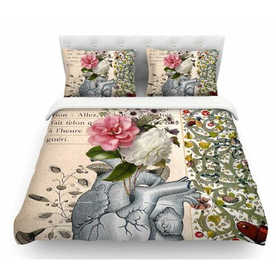 Her Heart is a Garden by Suzanne Carter Featherweight Duvet Cover Size: King
