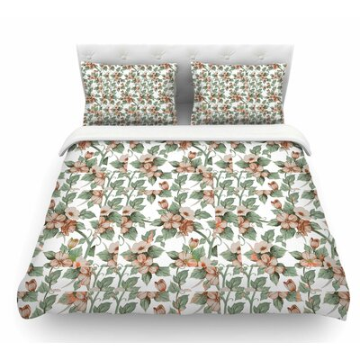 Vintage Flowers by Suzanne Carter Floral Featherweight Duvet Cover Size: King