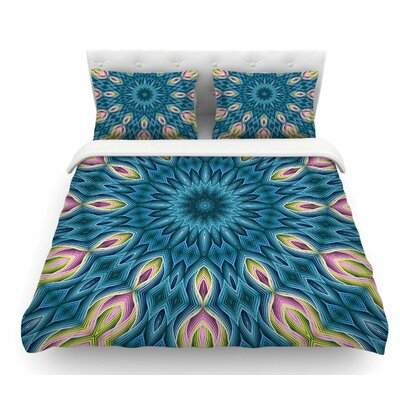 Zapped by Sylvia Cook Featherweight Duvet Cover Size: King, Color: Blue/Teal