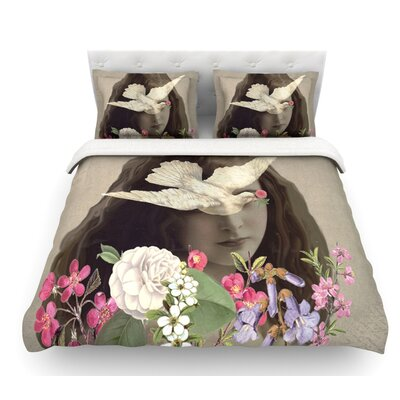 Doves Eyes by Suzanne Carter Featherweight Duvet Cover Size: Queen