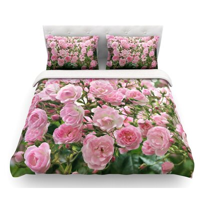 The Fairy Rose by Sylvia Cook Floral Featherweight Duvet Cover Size: King
