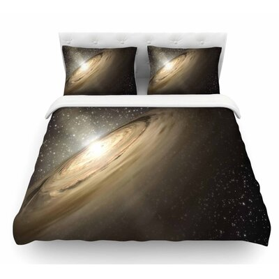 Galaxy by Suzanne Carter Featherweight Duvet Cover Size: Twin