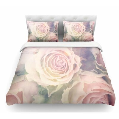 Faded Beauty by Suzanne Carter Blush Floral Featherweight Duvet Cover Size: Twin