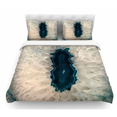 Quartz by Sylvia Cook Geological Featherweight Duvet Cover Size: Twin