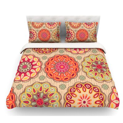 Festival Folklore by Suzie Tremel Vintage Floral Featherweight Duvet Cover Size: Queen