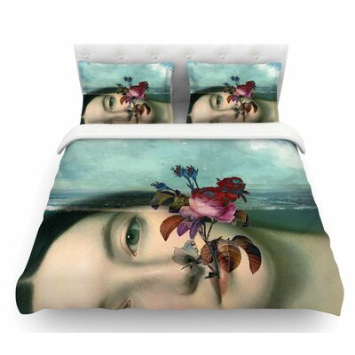 Emerge by Suzanne Carter Floral Featherweight Duvet Cover Size: Twin
