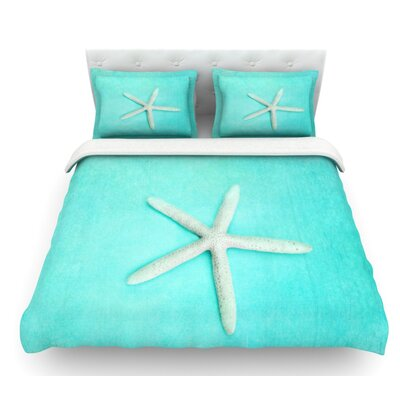 Starfish by Sylvia Cook Featherweight Duvet Cover Size: Queen