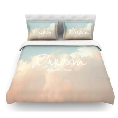 Dream by Suzanne Carter Quote Clouds Featherweight Duvet Cover Size: King