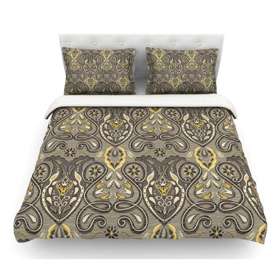 Vintage Damask by Suzie Tremel Featherweight Duvet Cover Size: Queen