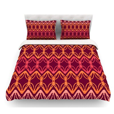 Rick Rack by Suzie Tremel Featherweight Duvet Cover Size: King