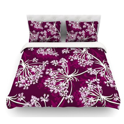 Squiggly Floral by Suzie Tremel Featherweight Duvet Cover Size: Queen