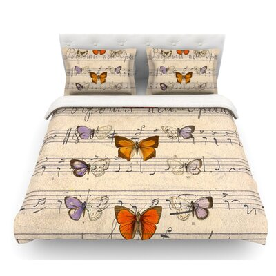 Butterfly Opera by Suzanne Carter Music Featherweight Duvet Cover Size: Queen