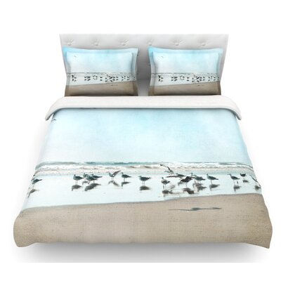 Sea Blue by Sylvia Cook Coastal Featherweight Duvet Cover Size: Queen