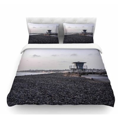 Lifeguard on the Rocks by Nick Nareshni Featherweight Duvet Cover Size: Twin