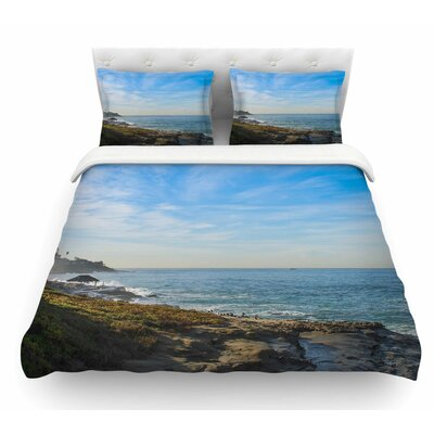 Sky Over the Ocean by Nick Nareshni Coastal Featherweight Duvet Cover Size: Twin