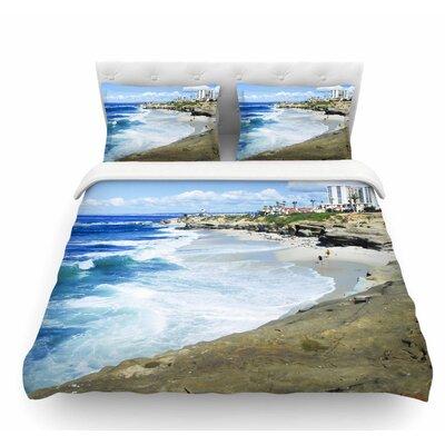 Beach Playground by Nick Nareshni Featherweight Duvet Cover Size: Twin